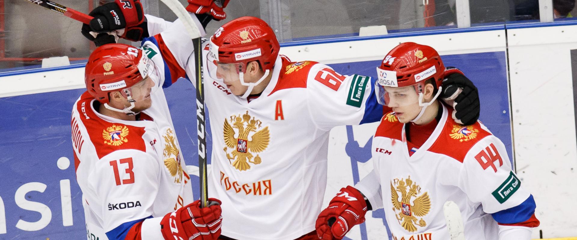 Znalezione obrazy dla zapytania norge russland ishockey